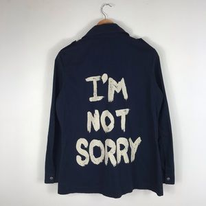 I'm Not Sorry Anorak Navy Jacket!  Fall MUST have